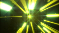 Stock Video Footage of 4k Yellow Dance of Lights Animation Seamless Loop.