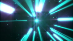 4k Blue Dance of Lights Animation Seamless Loop. Stock Footage