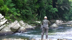 Fly fishing Stock Footage
