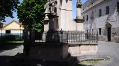 Statue of St. Rochus in Presov Stock Footage