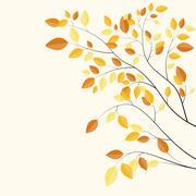 Stock Illustration of Shiny Autumn Natural Leaves Background. Vector Illustration