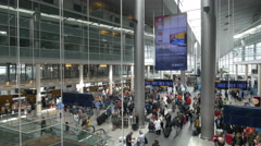 Interior Copenhagen International Airport - Copenhagen Denmark Stock Footage