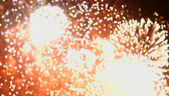 Fireworks display. Festival fireworks. 4K 30fps - stock footage