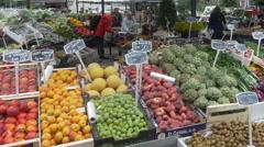 Torvehallerne Farmers Market - Copenhagen Denmark Stock Footage