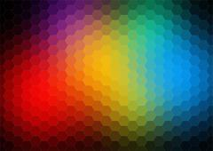 colorful pattern of triangle geometric shapes - stock illustration