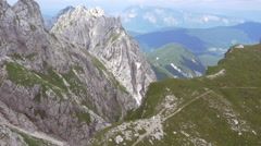 Aerial - Mountain summits Stock Footage