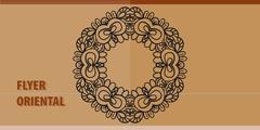 Invitation Cover Template with Oriental Yoga Symbol - stock illustration