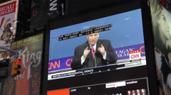 GOP Debate September 2015 on Times Square Stock Footage