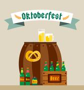 Oktoberfest celebration vector background poster Stock Illustration