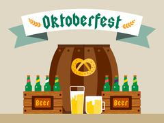 Stock Illustration of Oktoberfest celebration vector background poster