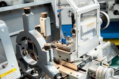 Screw-cutting lathe - stock photo