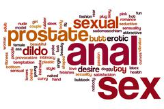 Stock Illustration of Anal sex word cloud concept