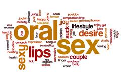Oral sex word cloud concept Piirros