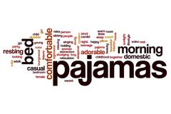 Pajamas word cloud concept Stock Illustration