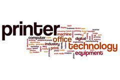 Printer word cloud concept Stock Illustration