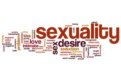 Sexuality word cloud concept Stock Illustration