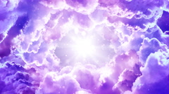 Purple Fantasy Clouds Stock Footage