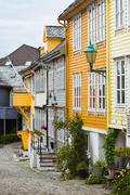 little street in Bergen - stock photo