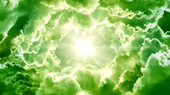 Green Fantasy Clouds Stock Footage