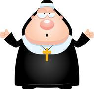 Stock Illustration of Confused Cartoon Nun