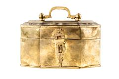 Golden casket Stock Photos