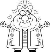 Stock Illustration of Cartoon Sultan Hug