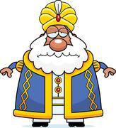 Sad Cartoon Sultan Stock Illustration
