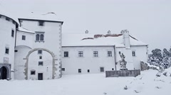 Varazdin Castle museum Stock Footage