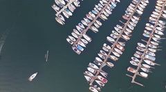 4K Aerial drone shot of boats in Vancouver bay Arkistovideo