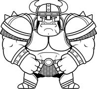 Cartoon Orc Armor Stock Illustration
