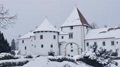 Varazdin Castle in Croatia Stock Footage