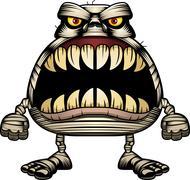 Angry Cartoon Mummy - stock illustration
