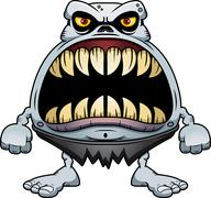 Stock Illustration of Angry Cartoon Ghoul