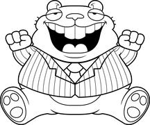 Stock Illustration of Cartoon Fat Hamster Suit