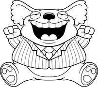 Cartoon Fat Koala Suit - stock illustration