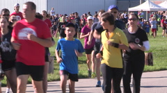 Waterloo Terry Fox run Stock Footage