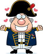 Stock Illustration of Cartoon British Admiral Hug