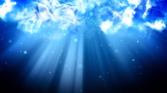 Heavenly Light Clouds Stock Footage