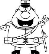 Cartoon Union Soldier Idea Stock Illustration