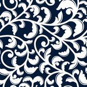 Elegant seamless pattern with white foliage Stock Illustration