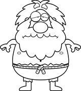 Sad Cartoon Hermit Stock Illustration