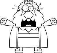 Scared Cartoon Moses Stock Illustration