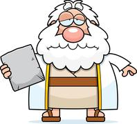 Sad Cartoon Moses Stock Illustration
