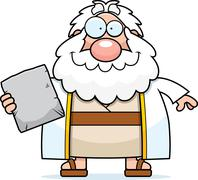 Happy Cartoon Moses Stock Illustration