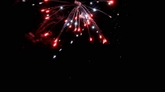 fireworks new year on black sky background - stock footage