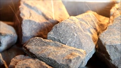 sauna, hot stones, steam, therapy, relaxation, health concept - stock footage