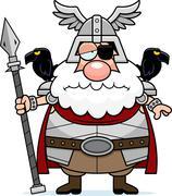Sad Cartoon Odin Stock Illustration