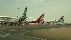 Abu Dhabi  Airport Exterior Stock Footage