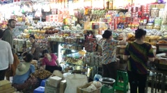 Candy shop in Ben Thanh market Stock Footage