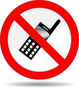 Ban telephone Stock Illustration